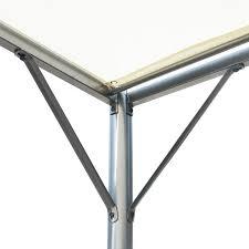 Metal Pergola Frame by Vidaxl Pergola With Adjustable Roof Cream White Steel 9 8 U0027x9 8