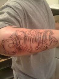 forearm name ink design tattoomagz