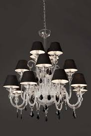 Chandelier With Black Shades Chandelier With Black Shade And Crystal Drops U2013 Tendr Me