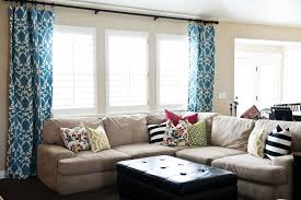 living room nice living room window treatments nice blue curtain