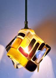 Mosaic Pendant Lighting by Custom Hand Crafted Fused Glass Pendant Lights And Sconces