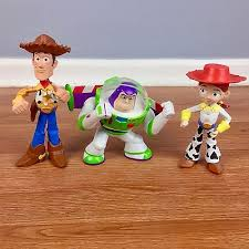toy story talking buzz lightyear woody jessie action figures lot