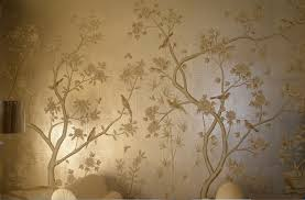hand painted wallpaper silk wallpaper china wallpaper grace