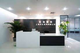 Modern Office Reception Desk Stunning White Floor Design With Black And White Ikea Reception