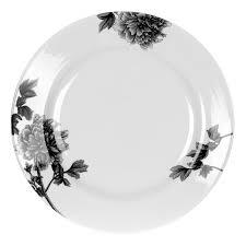 royal worcester peony black dinner plates set of 4 spode uk