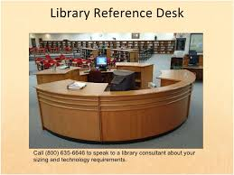 Library Reference Desk Wood Library Furniture And Shelving For Libraries