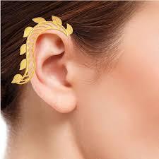 s ear cuffs s leaf ear cuffs by pulido bozal in contemporary fashion jewellery