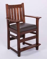 l u0026jg stickley billiard chair california historical design