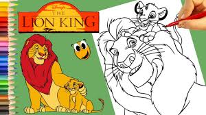 mufasa simba coloring book learn color crayola pip