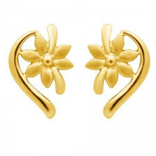 gold earrings tops floral gold ear tops online shopping india velvetcase sweet