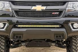 rough country light bar mounts 70536 30 inch led light bar hidden bumper mounts colorado canyon