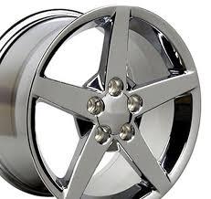 chrome corvette wheels chevrolet corvette c6 style replica wheels chrome 18x9 5 17x8 5 set