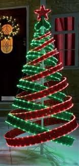 green spiral lighted tree 4ft outdoor red green pre lit pop up spiral christmas tree led