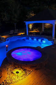 low voltage lighting near swimming pool landscaper in somerset nj 08873 greenview designs llc