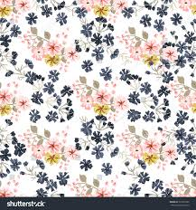 cute pics for background simple cute pattern smallscale flowers diagonal stock vector