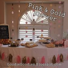 pink gold baby shower goodie goodies pink gold baby shower