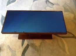 art deco blue mirror top cocktail table for sale antiques com