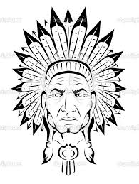 indian chief coloring pages