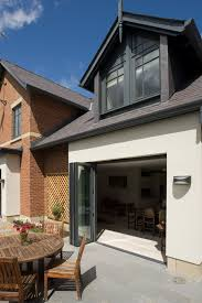 pitched roof extension with clean white render google search