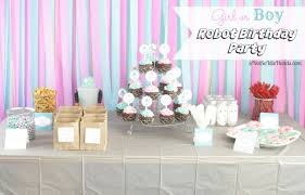 girl birthday party themes sweet and robot party for a girl or boy