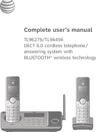 80 0381 00 dect6 0 cordless telephone answering system with