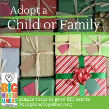 adopt a child or family for the holidays doing together