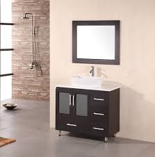 Bathroom Vanities With Bowl Sink Stanton 36 Inch Modern Bathroom Vanity Vessel Sink Artificial