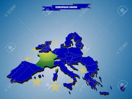 Eu Countries Map 3 Dimensional Infographics Map Of European Union Countries With