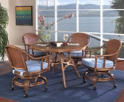 kitchen table and chairs with casters classic rattan online catalog