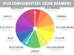 list of color complementary colors list amazing color wheel split complementary