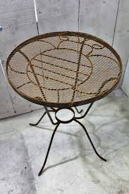 wrought iron bumblebee table metal patio furniture