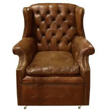 chairs tufted leather wingback chair sinlgle vintage at retro