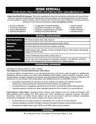 Resume Examples With No Job Experience by It Engineering Resume Example