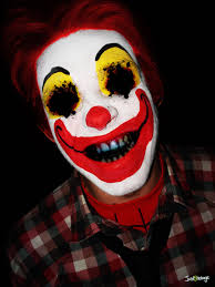 scary clown halloween mask evil clown faces digital drawing 50 scary clowns that will
