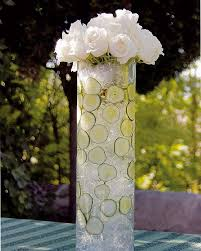 Diy Table Decorations Diy Garden Table Decoration Crystals Cucumbers Glass Vase White