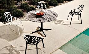 Magic Garden Table And Chairs Eames Round Contract Base Outdoor Table Hivemodern Com