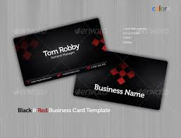 black u0026 red business card template by colorx graphicriver