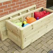 Waterproof Patio Storage Bench by Wooden Vegetable Storage Boxes