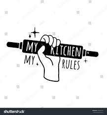 motivational poster kitchen logo symbol badge stock vector