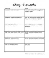 literature short story elements worksheet education resources