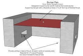 oriflamme fire table parts gas fire pit components fire pit grill ideas