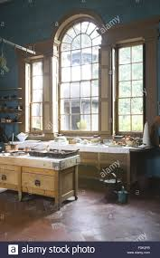 the new kitchen built in the early 1770s at erddig wrexham wales