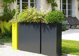 contemporary planter boxes with beautiful rectangle black and