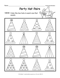 best solutions of visual discrimination worksheets on sheets