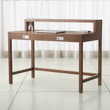 writing table with hutch shop modern desks for home offices crate and barrel