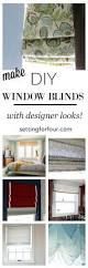 make gorgeous diy window blinds setting for four