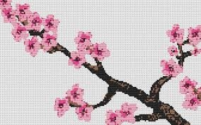 cross stitch kit cherry blossom counted crossstitch kit
