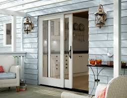 Houzz Patio Doors by Stacking Glass Wall Doors Wood U0026 Aluminum Milgard Windows U0026 Doors