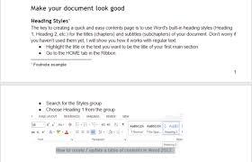 Google Doc Table Of Contents Word Online Vs Google Docs