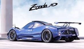 blue pagani yet another pagani zonda one off special made the md